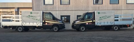 Støjsvage hybridbiler henter storskrald i Aarhus Midtby