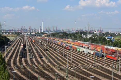 Tysk havn oplever stigende godstransport med tog