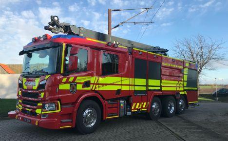 Storebæltsberedskabet har fået sin nye avancerede brandbil