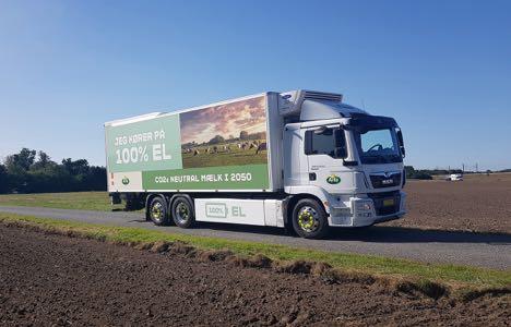Mejeri-koncern kører ud med elektrisk mælkebil