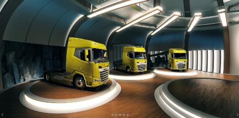 Hollandske lastbiler kører ind på skærmen