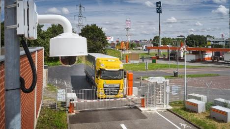 Truck-stop ved Köln har fået 40 sikre P-pladser til lastbiler