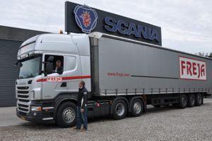 transportnyhederne.dk » Vejtransport » Scania leverer Ecolution-løsning til Freja Spedition